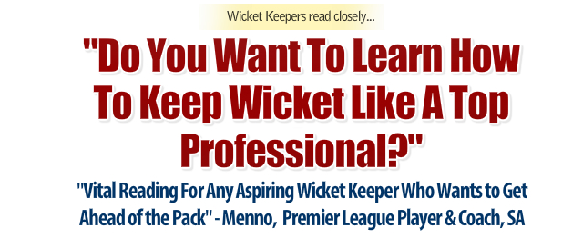 Wicket Keeping Tips