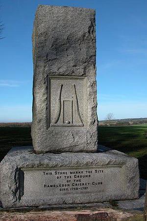 Hambledon Cricket Club Memorial On Broadhalfpe...